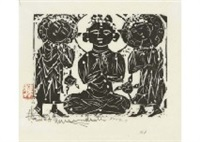 three buddahs by shiko munakata