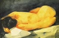 untitled (female nude) by romulo olazo