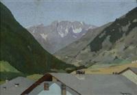paesaggio con montagne by memo vagaggini