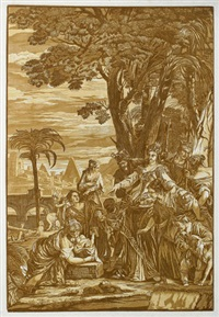 die findung moses (after p. veronese) by john baptist jackson