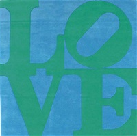 green on blue love by robert indiana
