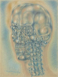 interior landscape iii. skull by pavel tchelitchew