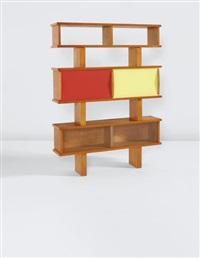 bibliothèque, model no. 13, from 'l'equipement de la maison' series, grenoble by charlotte perriand & pierre jeanneret