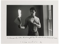 he burned the letter that brought him, the news he was loved no more by duane michals