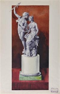 projet pour une statue de daphnée et apollon by c. e. bolin