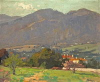 homes along the san gabriel mountains by ferdinand kaufmann