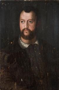 portrait von cosimo i. by agnolo bronzino