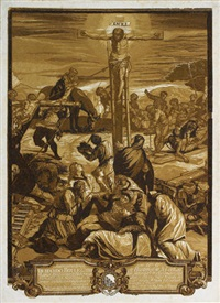 die große kreuzigung (after tintoretto) by john baptist jackson