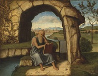 saint jerome in the wilderness by marco basaiti