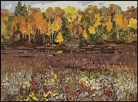 autumn swamp by george franklin arbuckle