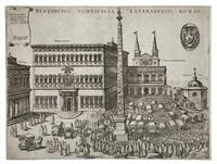 benedictio pontificia lateranensis romae by nicolaus van aelst