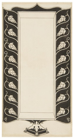 cover design from the keynotes series of novels and short stories by aubrey vincent beardsley