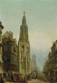 fontaine de la croix de pierre by henry c. gritten