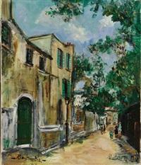 rue saint-vincent à montmartre by maurice utrillo