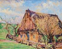 farmhouse in early spring by hugo volkwarth