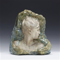 portrait of lady in profile by alfred boucher and émile müller