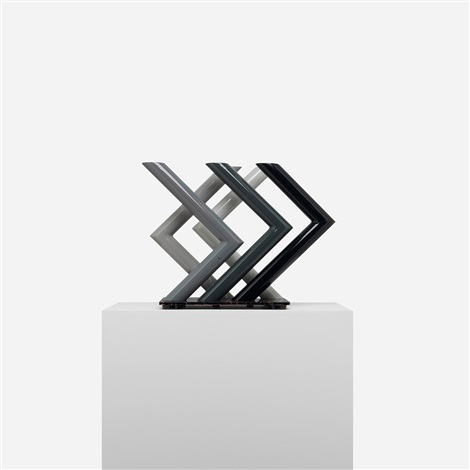 untitled (grey series sculpture) by josefa filkosky
