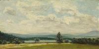 landscape with figures by james aumonier