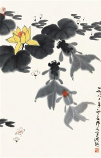 池趣图 by wu zuoren