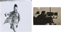 le mannequin carla marlier en robe dior, lanvin castillo; autoportrait de guy bourdin (8 works) by guy bourdin