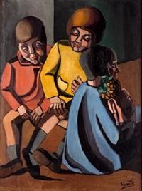 tres niños (antonio, anita y conchita) by ángeles santos