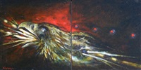 mwakwa eagle (diptych) by dale auger