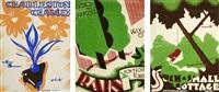 trois dessins pour partition de fox-trott, charleston, jazz (3 works) by roger de valerio
