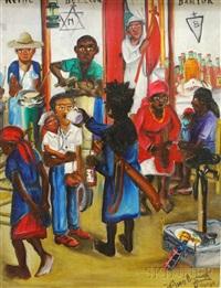voodoo scene by wilson bigaud