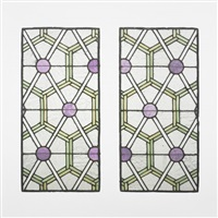 windows from the chicago stock exchange (pair) by dankmar adler and louis sullivan
