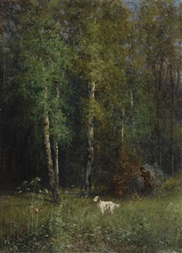 hunting in the woods by ivan pavlovich pokhitonov