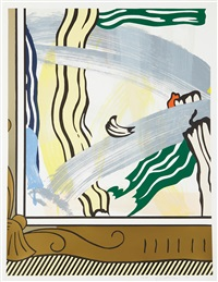 painting in gold frame (from paintings series) by roy lichtenstein