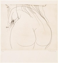 woman under the shower by brett whiteley