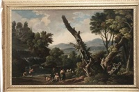 paesaggio con figure by jacob de heusch
