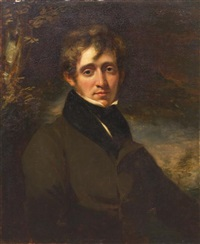 portrait of a man, said to be the poet thomas moore by john opie