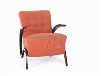 a pair of kreslo armchairs h275 by jindrich halabala