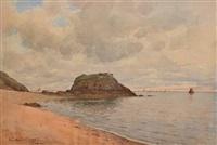 la plage à st-quay by paul emile lecomte