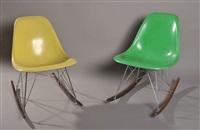 petites chaises à bascule (pair) by herman miller
