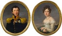 porträts von general pjotr sergeewitsch uschakow und seiner gemahlin maria (pair) by alexander molinari