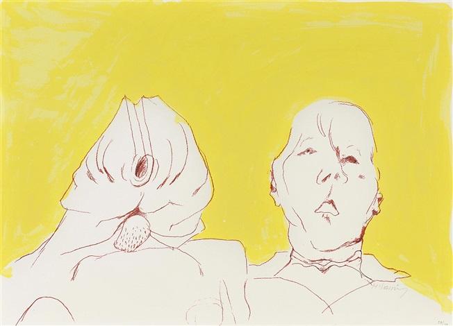 doppelselbstportrait by maria lassnig