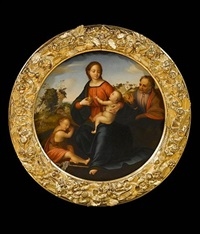 the holy family with the infant saint john the baptist by fra bartolommeo