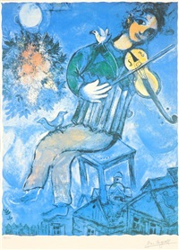 le violiniste blue by marc chagall