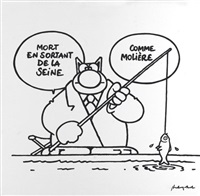 le chat - comme molière by philippe geluck