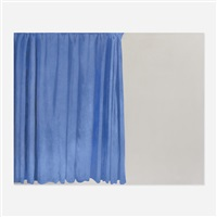 tenda blu (blue curtain) by michelangelo pistoletto