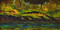 paisaje con arroyo by joaquín clausell
