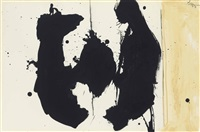 elegy sketch with amber by robert motherwell