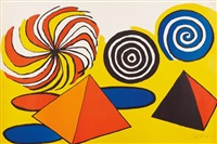 untitled (pinwheels and pyramids) by alexander calder