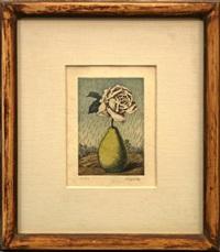 poire et rose by rené magritte