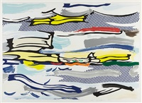 seascape (from landscape series) by roy lichtenstein