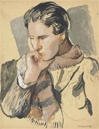 portrait of allen tanner (1898-1987) by pavel tchelitchew