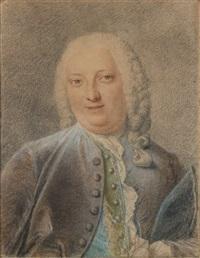 portrait de jacques louis françois roussel, marquis de courcy by jacques-andré portail